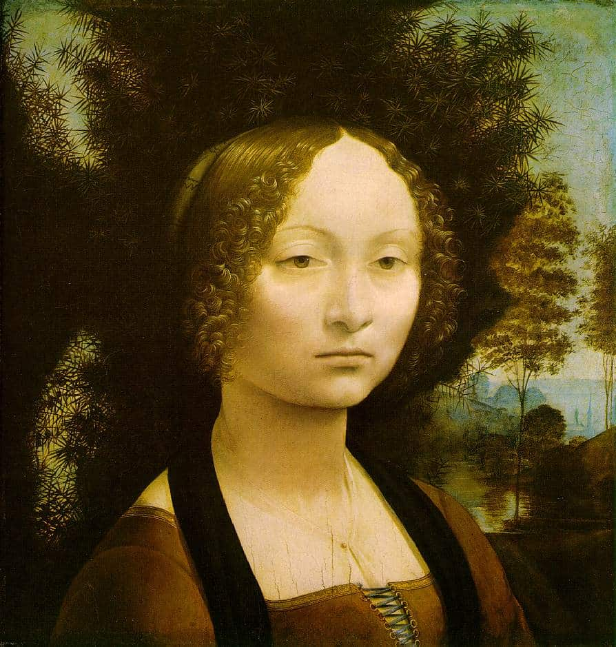 Portrait-de-Ginevra-Benci-De-Vinci